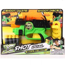 Zuru детское оружие бластер 2 в 1 X-Shot Dart & Disc Blaster, стреляет мягкими патронами и дисками 0105B