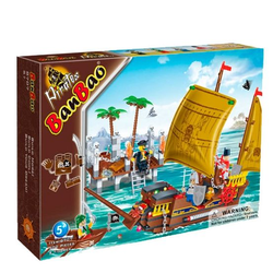 Banbao конструктор Пиратская лодка 502 детали 8707
