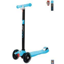 Самокат трехколесный Y-Scoo RT Maxi Shine A20 blue с 4-мя светящимися колесами