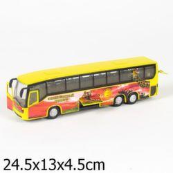 Автобус коллекционная модель, металл, свет звук CT10-025-4
