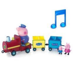 Свинка Пеппа Игровой набор Паровозик дедушки Пеппы, звук Peppa Pig 15563