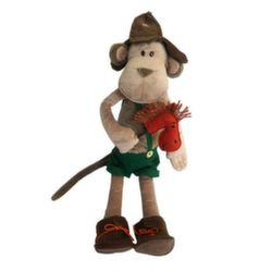Мягкая игрушка Обезьян Васек в буденовке с конем 23 см MT-TS0215045