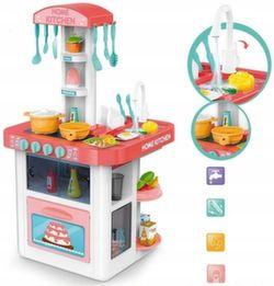 Игровая кухня с водой 82 см, 40 предметов розовая 889-59
