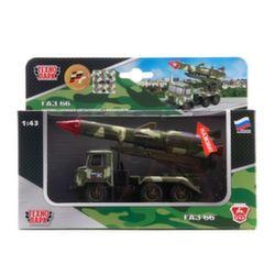 Машина Технопарк ГАЗ 66 Ракета Военные Силы CT-1299-R-3