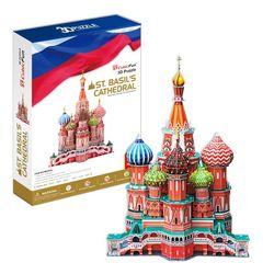 3D пазл объемный Собор Василия Блаженного Россия MC093h