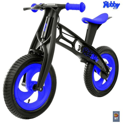 Велобалансир беговел Hobby-bike RT FLY А черная оса Plastic blue/black