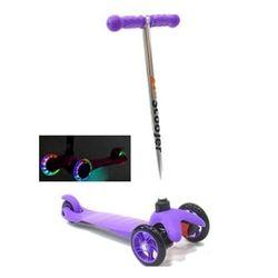Трехколесный самокат 21st scooter mini со светящимися колесами 21vek фиолетовый