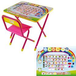 Набор мебели №1 Алфавит розовый 79875