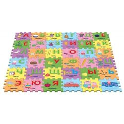 Коврик-пазл Peppa Pig Учим азбуку с Пеппой, 36 сегментов 30128
