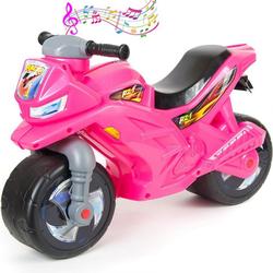 Каталка-мотоцикл беговел racer rz 1 OP501 озвученная розовый