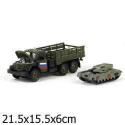 Набор Технопарк ЗИЛ 131 с машинкой/танком инерц., свет, звук СT10-001 (G1+J1)