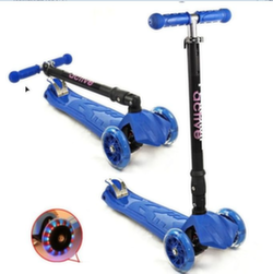 Самокат трехколесный TRIUMF Active складной со светящимися колесами SKL-07 CL синий